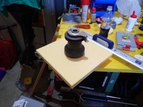 Winch screws will go through the wood insert
